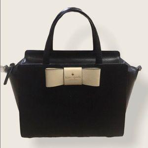 Kate Spade cream bow and black purse